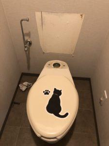 トイレタンクを外したところ