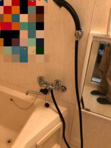 交換前の浴室蛇口