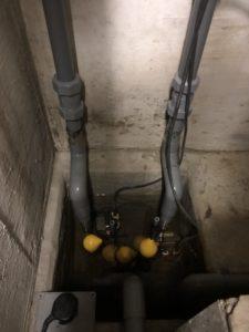 既設の排水ポンプ