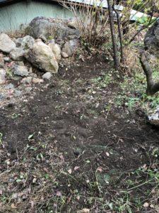 井戸口が埋没していると思われる場所