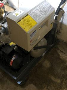 交換後の給水加圧ポンプユニット