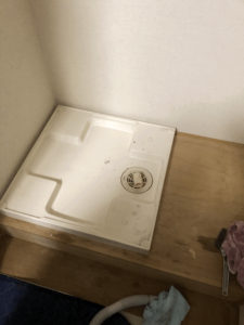 設置されている洗濯パン