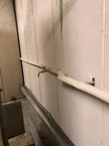共用水栓設置後