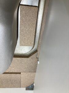 シンク裏の補強板