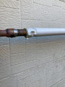 漏水している給湯銅管