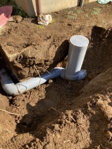 修繕、排水マス設置後