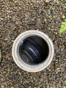 排水管洗浄後の排水マス
