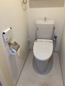交換後のトイレ(組み合わせ型)