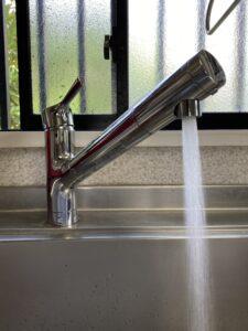 交換後の浄水器内蔵型混合栓
